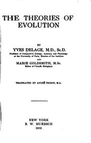 Cover of: The theories of evolution