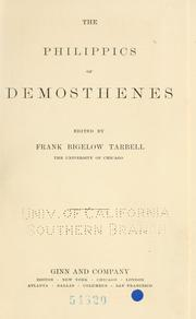 Cover of: The Philippics of Demosthenes