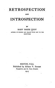 Cover of: Retrospection and introspection