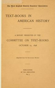 Cover of: Text-books in American history. | New England History Teachers