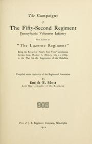 Cover of: campaigns of the Fifty-second regiment, Pennsylvania volunteer infantry | Pennsylvania infantry. 52d regt., 1861-1865.