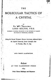 Cover of: The molecular tactics of a crystal
