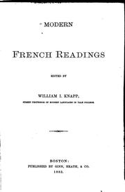 Cover of: Modern French readings