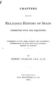 Cover of: Chapters from the religious history of Spain connected with the Inquisition