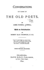 Cover of: Conversations on some of the old poets