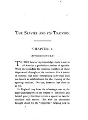 Cover of: The spaniel and its training. | F. H. F. Mercer