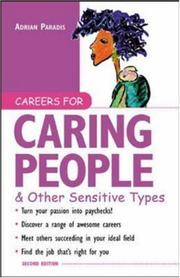 Cover of: Careers for caring people & other sensitive types