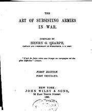 Cover of: The art of subsisting armies in war | Henry G. Sharpe