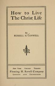 Cover of: How to live the Christ life