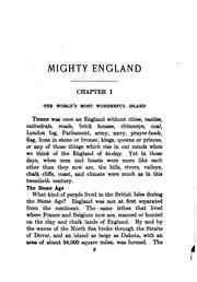 Cover of: Mighty England: the story of the English people
