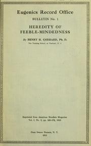 Cover of: Heredity of feeble-mindedness