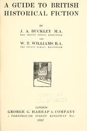 Cover of: A guide to British historical fiction by John Anthony Buckley