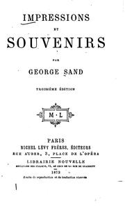 Cover of: Impressions et souvenirs
