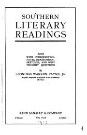 Cover of: Southern literary readings