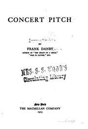 Cover of: Concert pitch