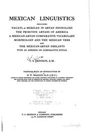 Cover of: Mexican linguistics | Thomas S. Denison