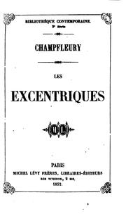 Cover of: Les excentriques