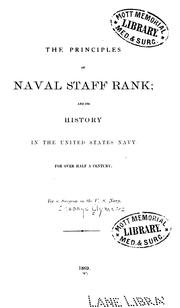 Cover of: The principles of naval staff rank