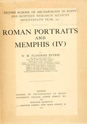 Cover of: Roman portraits and Memphis IV