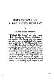 Cover of: Reflections of a beginning husband
