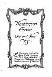 Cover of: Washington Street, old and new by Edwin M. Bacon