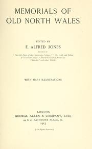 Cover of: Memorials of old north Wales | Edward Alfred Jones
