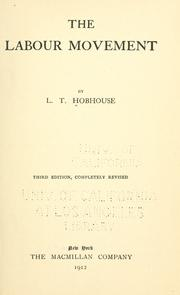 The labour movement by L. T. Hobhouse