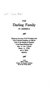 Cover of: Darling family in America | Lyman Horace Weeks