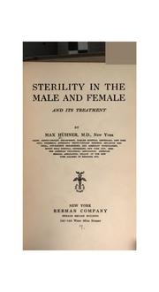 Cover of: Sterility in the male and female and its treatment