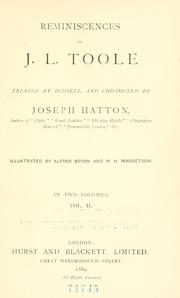 Cover of: Reminiscences of J. L. Toole | John Lawrence Toole