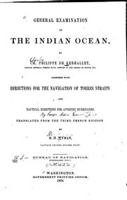 General examination of the Indian Ocean