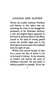 Cover of: Lincoln and slavery