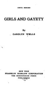 Cover of: Girls and gayety