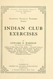 Cover of: Indian club exercises | Warman, Edward Barrett