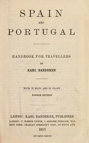 Cover of: Spain and Portugal by Karl Baedeker (Firm)