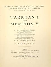 Cover of: Tarkhan I and Memphis V