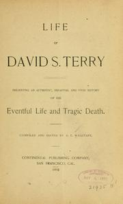 Cover of: Life of David S. Terry |