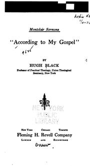 Cover of: According to my Gospel, | Black, Hugh