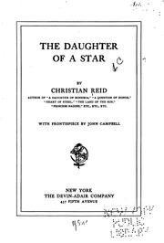 Cover of: The daughter of a star