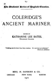 Cover of: Coleridge