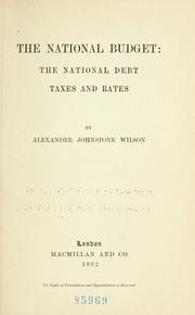 Cover of: The national budget