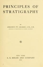 Cover of: Principles of stratigraphy