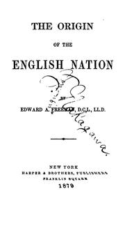 Cover of: The origin of the English nation