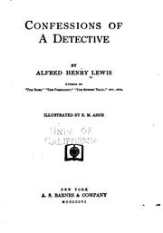 Cover of: Confessions of a detective