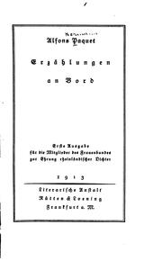 Cover of: Erzählungen an bord