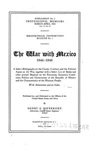 Cover of: war with Mexico, 1846-1848 | Henry Ernest Haferkorn