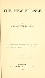 Cover of: The new France. | William Samuel Lilly