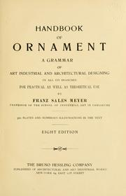 Cover of: Handbook of ornament | Franz Sales Meyer