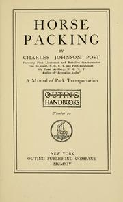 Cover of: Horse packing