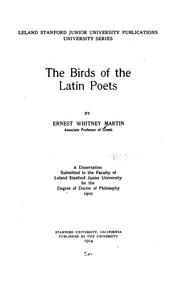 Cover of: birds of the Latin poets | Ernest Whitney Martin